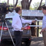 Being Interviewed by Eddie Summerfield - WIN News Mildura