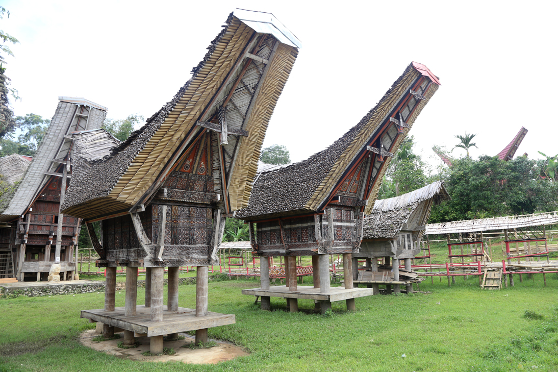 Traditional tonkonans and Rice barns