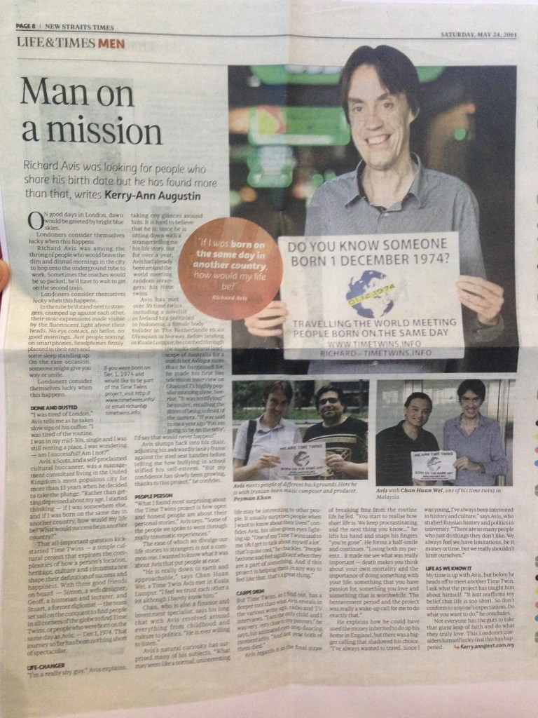 New Straits Times Article